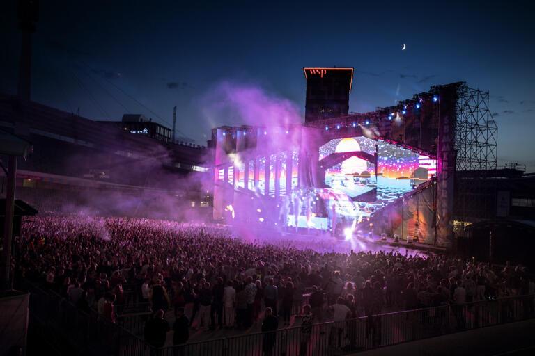Så här brukar det se ut på Summerburst. Bilden är tagen under Tiëstos uppträdande i fjol. Arkivbild.