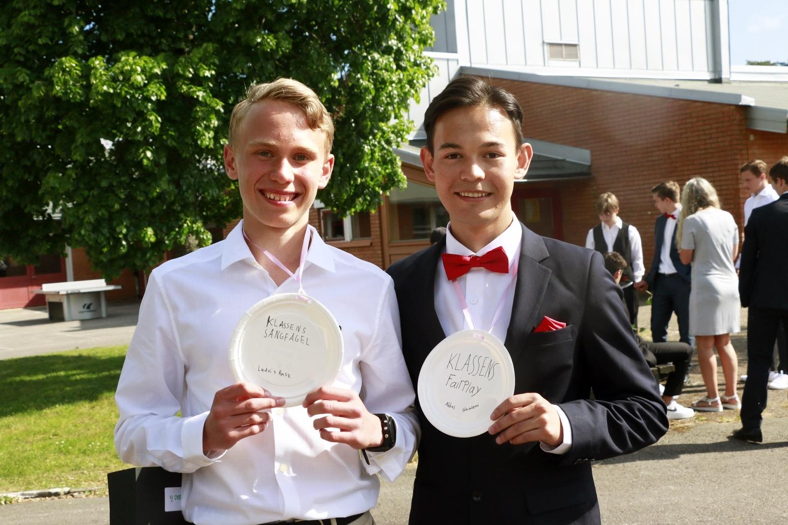 """Ludvig Rask och Abbas Ghasemi ska båda läsa på Tingsholmsgymnasiet i höst. """"Det ska bli kul att testa på det nya livet, och börja ny skola"""", säger Ludvig."""