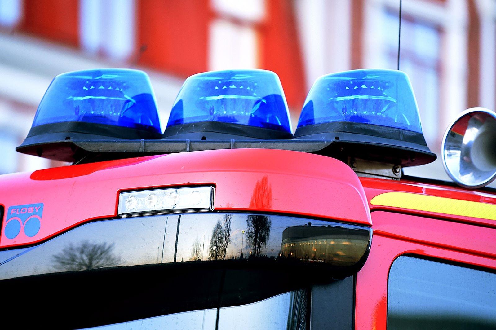 Karlshamn: Räddningstjänsten larmades till trapphus