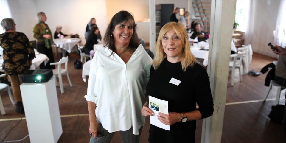 Anna-Carin Uggla och Susan Bolgar är projektledare för Kulturnavet Österlen som under två år ska arbeta för att skapa en plattform för Österlens professionella kulturarbetare.