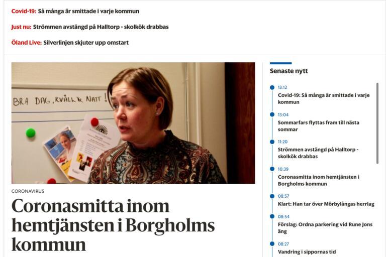 Ledare: Förbättrad läsupplevelse på www.olandsbladet.se