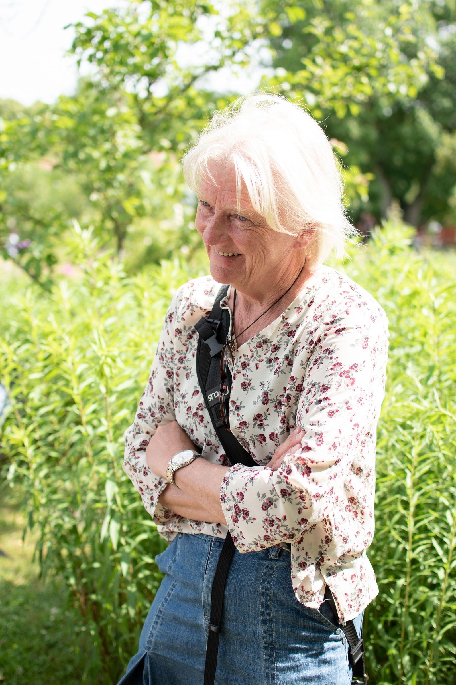 Ulla Geertsen Elm var en av klubbens utställare den här dagen…