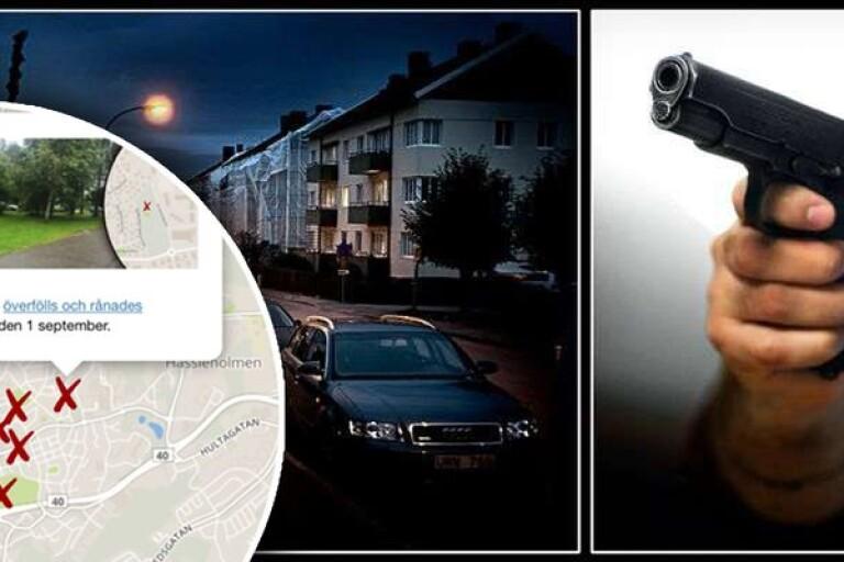 Stor karta: Här är de skakande fallen i rånvågen