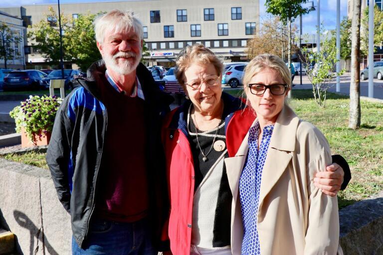 Ingemar Lennartsson, Kerstin Sternell och Emma Dahlberg vill slå vakt om och även utveckla äldreboendena på landsbygden.