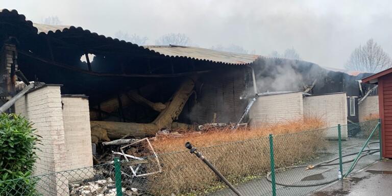 """Kommunens uppmaning efter branden: """"Spola inte vatten"""""""