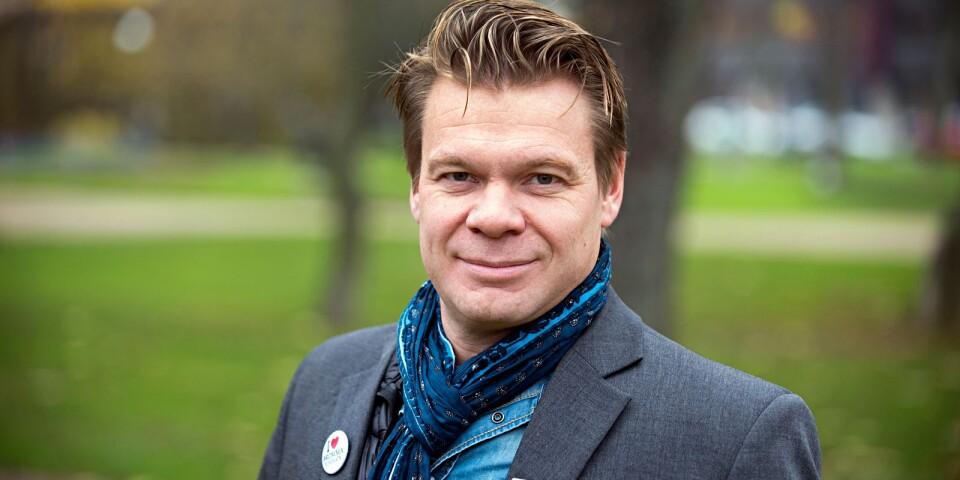 Jens Harrysson är den som ska ordna finansieringen till Frankfurtlinjen från Ronneby Airport.