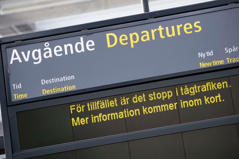 Tåg: Trafikstopp mellan Eslöv och Stehag efter olyckslarm