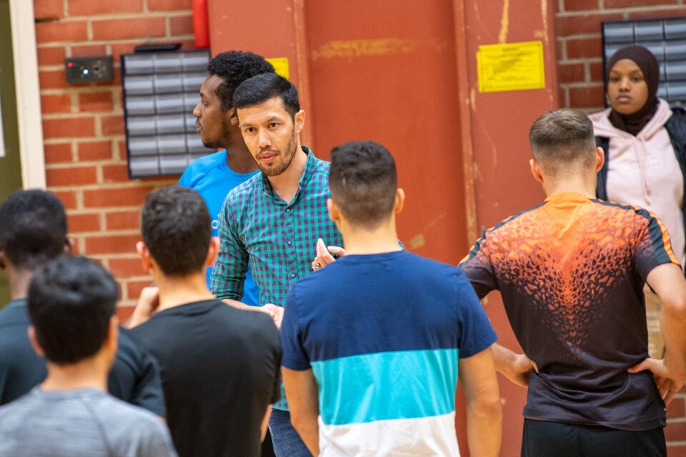 """Abdalla Hosseini came as an unaccompanied minor from Afghanistan. Now he works as a leader at Fryshuset. """"It's a good thing that Youth for the Future have brought more young people here"""", he thinks."""