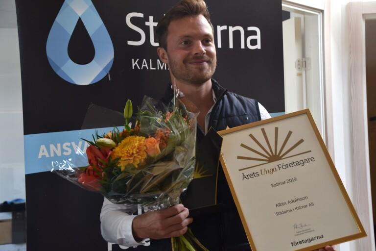 Han är årets unga företagare i Kalmar