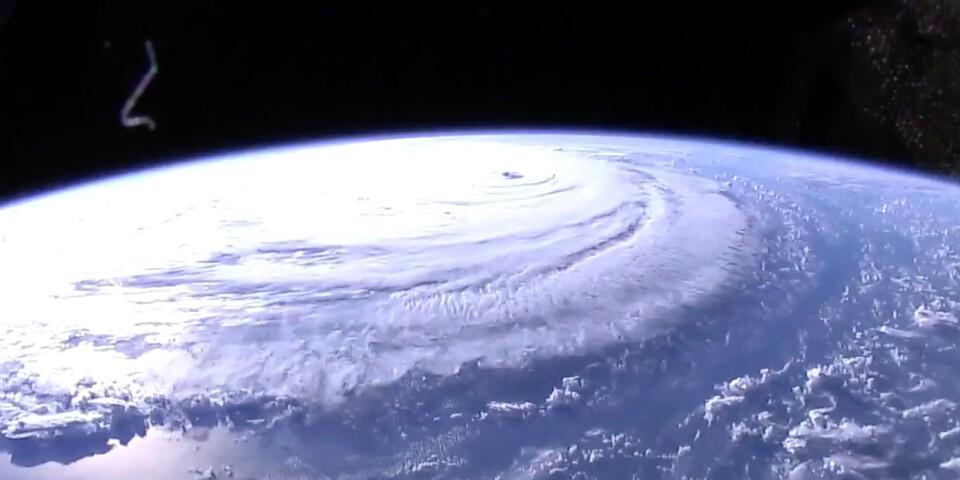 Bild på orkanen Florence fotad från Internationella rymdstationen (ISS).