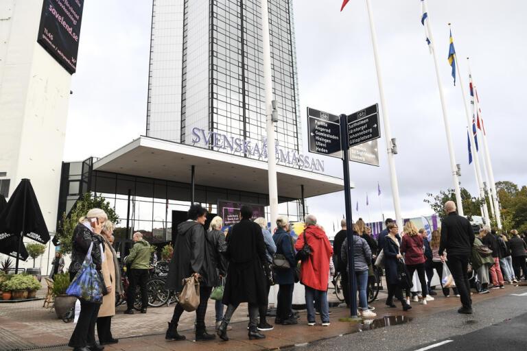 I år blir det inga ringlande köer utanför Bokmässan i Göteborg. Arkivbild.
