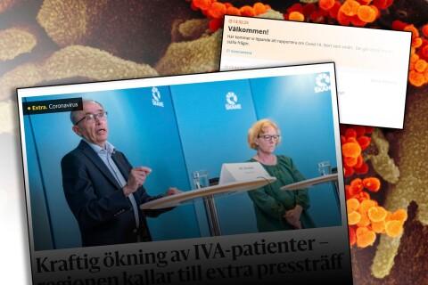 Direktrapportering om coronaläget: 59 nya dödsfall med covid-19