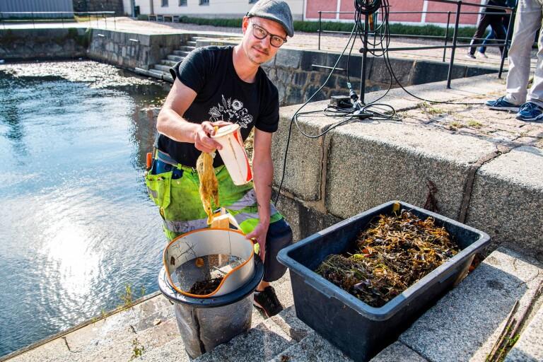 """Han renar havet från plast med ny metod – """"Jag brinner för miljön"""""""
