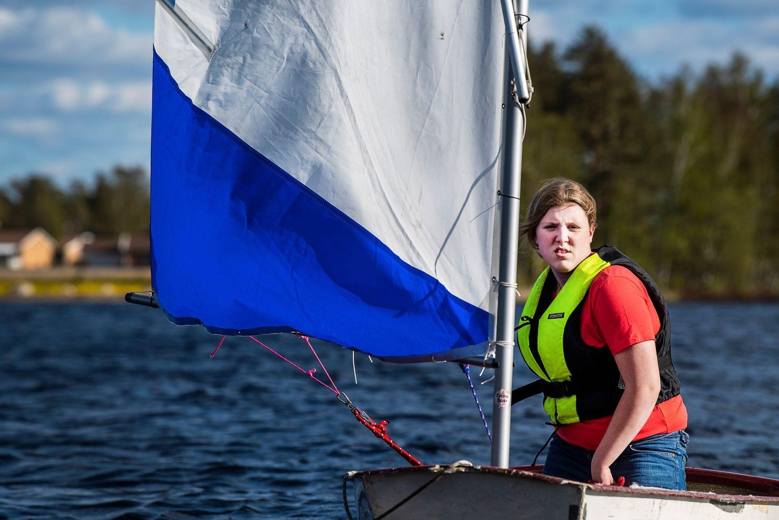 Lily Wahlström är en van seglare.