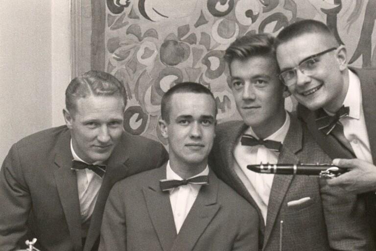 Nils-Åke Lundahls kvartett med från vänster Lars Borg, Lars Palmgren, Ingemar Helin och Nils-Åke Lundahl.