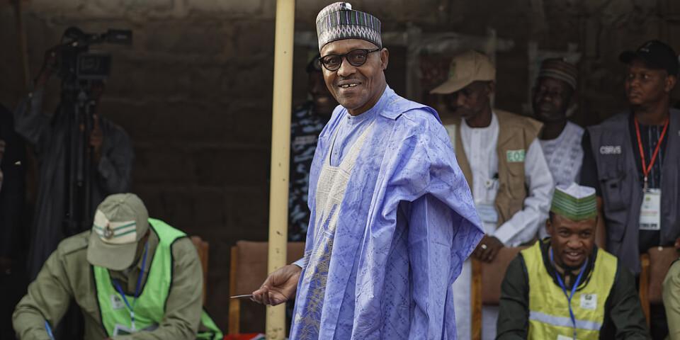 Muhammadu Buhari lägger sin röst i valet för tre månader sedan. Arkivbild