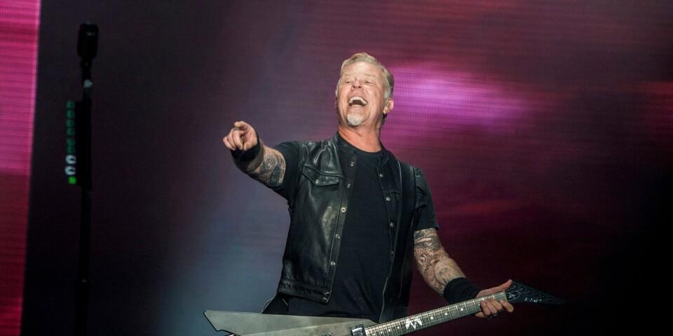 James Hetfield, sångare i Metallica, längtar efter Sweden Rock. Får vi i alla fall hoppas.