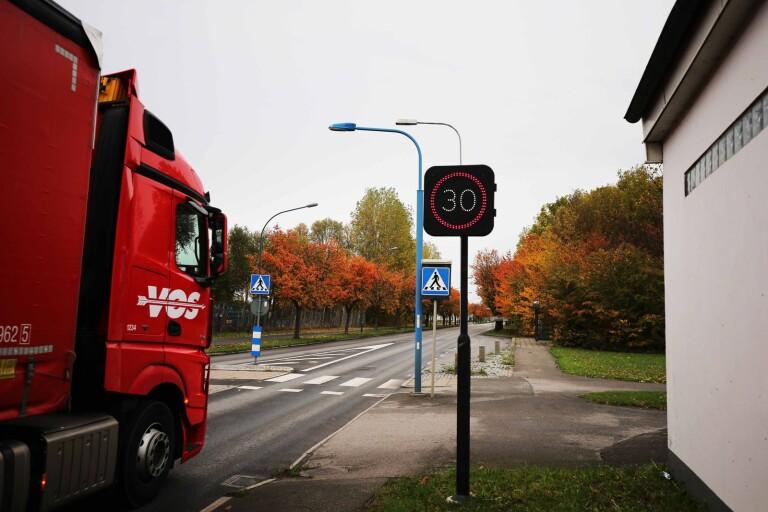 Trafiken i Trelleborg upplevs som galen – fartkameror inget alternativ