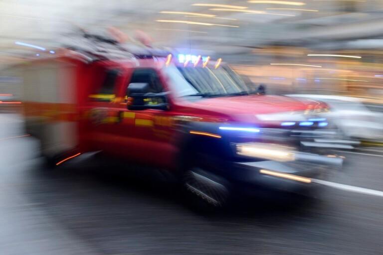Larm om brand i Hörvik