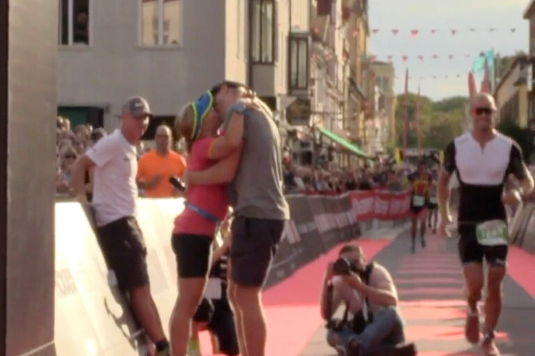 Kärleken flödade på Ironman i Kalmar – tre frierier vid målet
