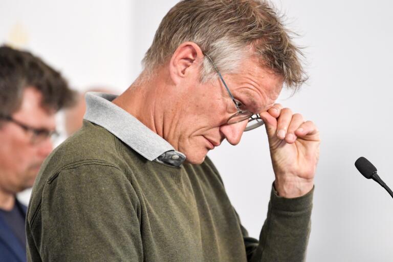 Anders Tegnell, statsepidemiolog vid Folkhälsomyndigheten, under den dagliga myndighetsgemensamma pressträffen om covid-19.