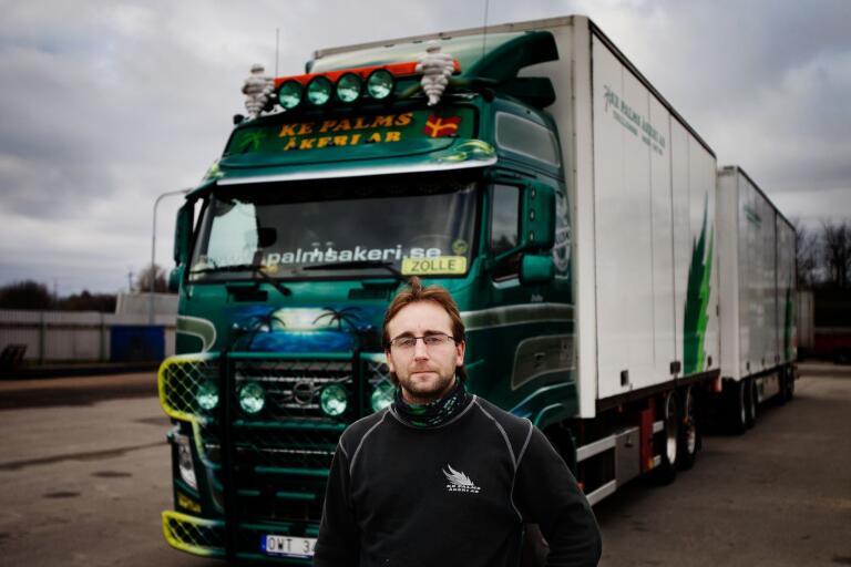 Under november körde Zolle Simon lite drygt 1000 mil med sin lastbil, främst till och från Stockholm.