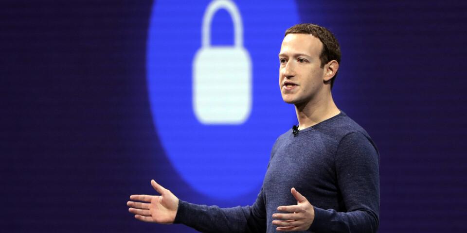 """""""Människor vill att vi anstränger oss för att skydda deras data"""", skrev Facebooks grundare Mark Zuckerberg i samband med att han berättade om den kommande krypteringen. Arkivbild."""