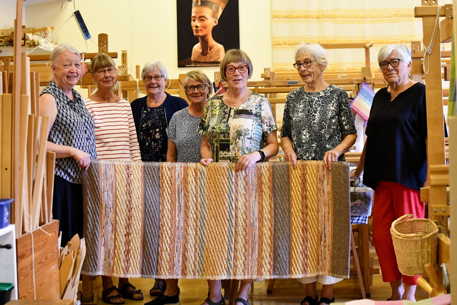 Maria Skarped, Gunilla Boström, Lisbeth Winqvist Nilsson, Eva Olsson, Britt Bengtsson, Gunborg Nilsson och Margaretha Bladh är sex av föreningens sexton medlemmar.