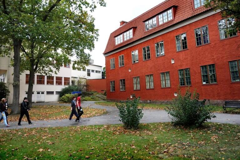Vägga gymnasieskola i Karlshamn.