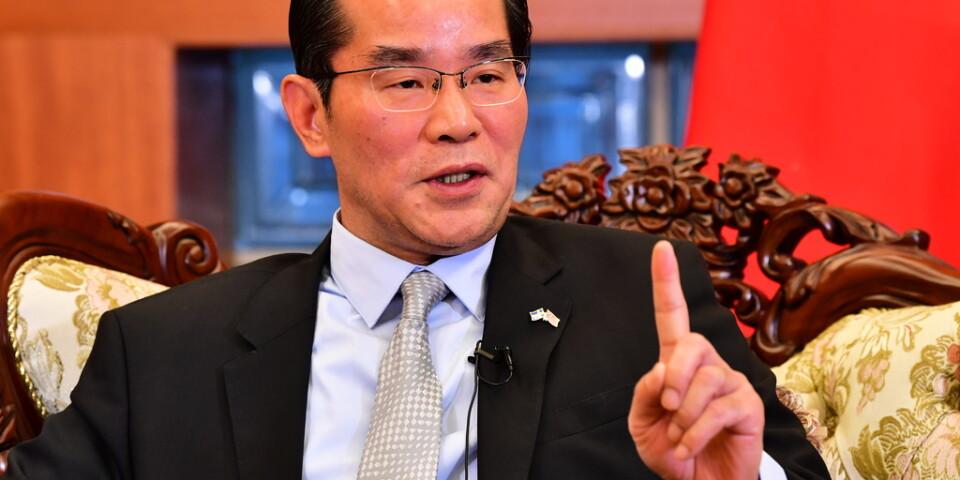 Kinas ambassadör Gui Congyou jämför svenska mediers agerande med en lättviktsboxare. Arkivbild.