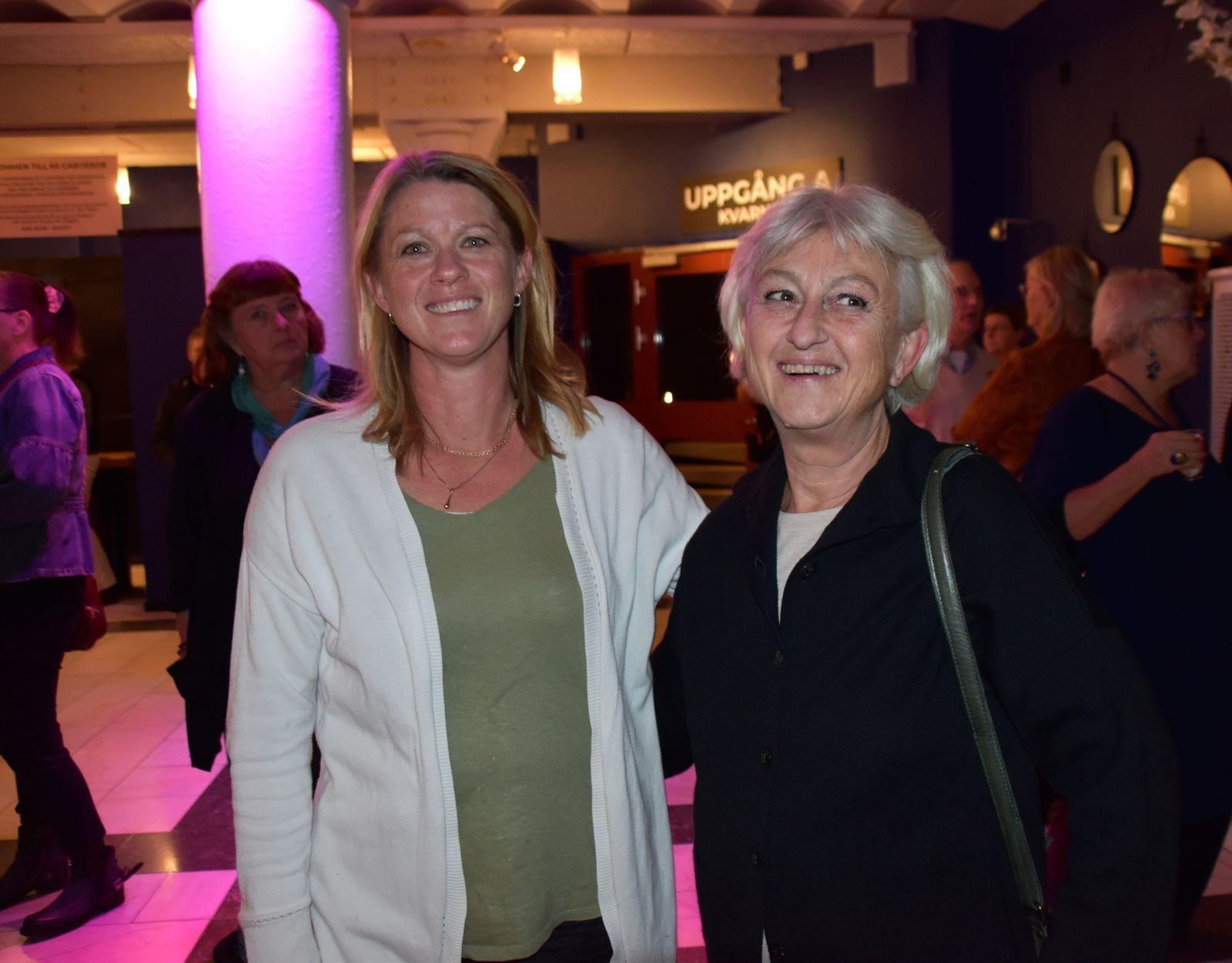Petra Olin och moster Carina Nordenmarker.