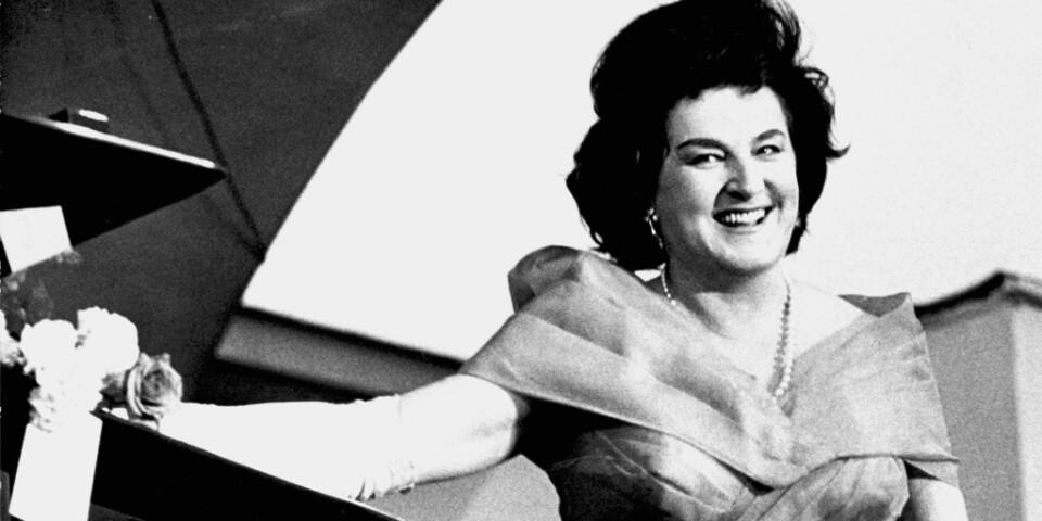 Operasångerskan Birgit Nilsson under ett uppträdande på Gröna Lund i Stockholm 1964. Arkivbild.
