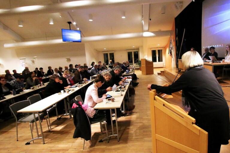 Kommunfullmäktige sa på torsdagen nej till att införa LOV inom daglig verksamhet i Mark. (Bilden är från ett tidigare kf-möte.)