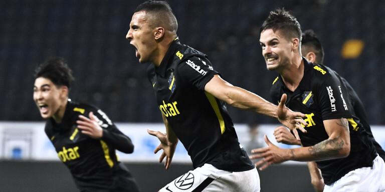 Nabil Bahoui blev AIK:s matchhjälte på tilläggstid.