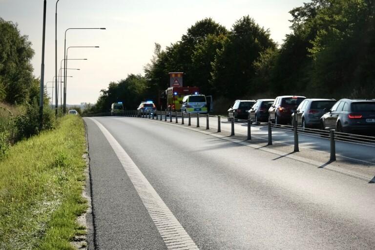Olycka: Bil kolliderade med annat fordon bakifrån