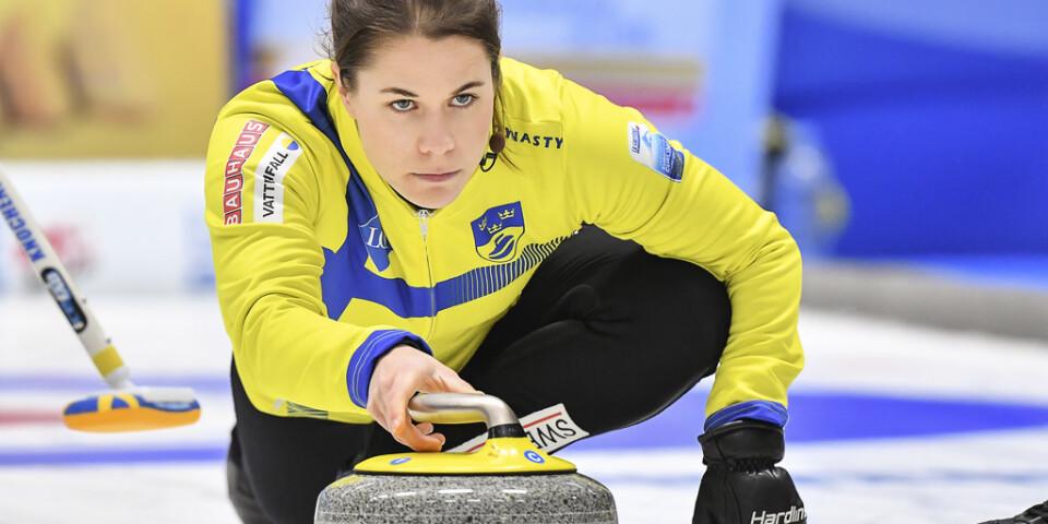Anna Hasselborg under EM-finalen i december, som Sverige vann över Skottland.