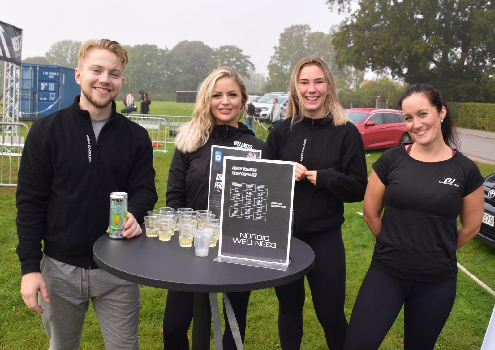 Andreas Henriksson, Linn Strömberg, Emma Rydberg och Elin Bergqvist.