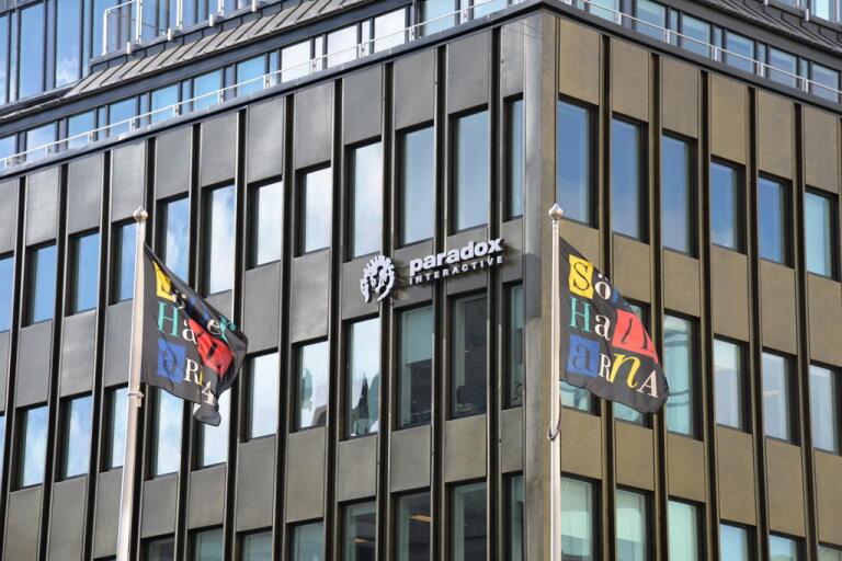 Paradox Interactives kontor i centrala Stockholm. Arkivbild.