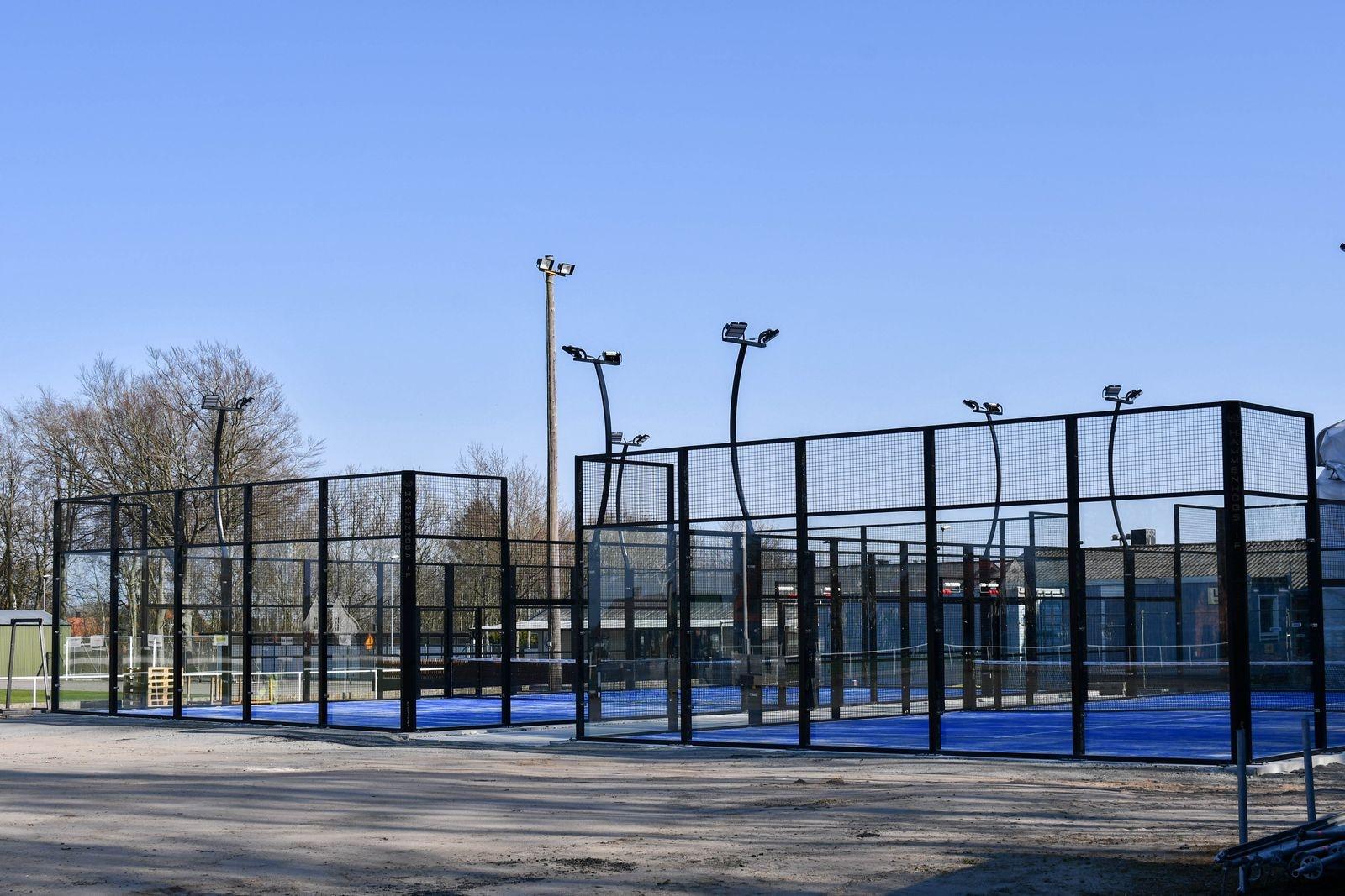 De två nya banorna på idrottsplatsen i Hammenhög stod klara i förra veckan.