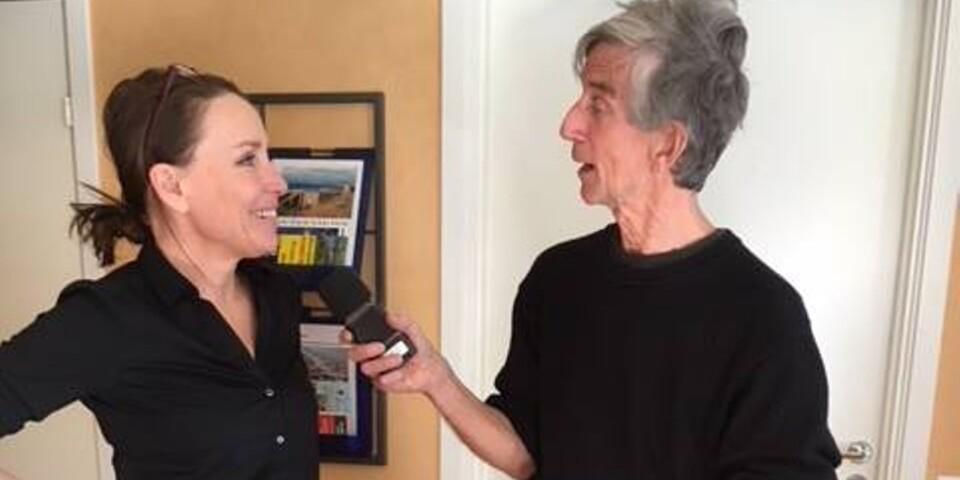 Katarina Melvinger och Odd Clausen under intervjun.