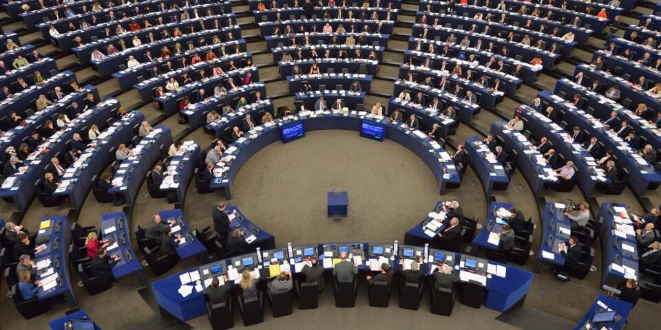 Plenum i EU-parlamentet i Strasbourg .