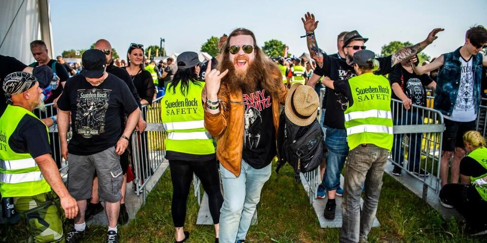 Öivind Skattum Vesteng från Oslo var en av de första som kom in på årets Sweden rock festival.