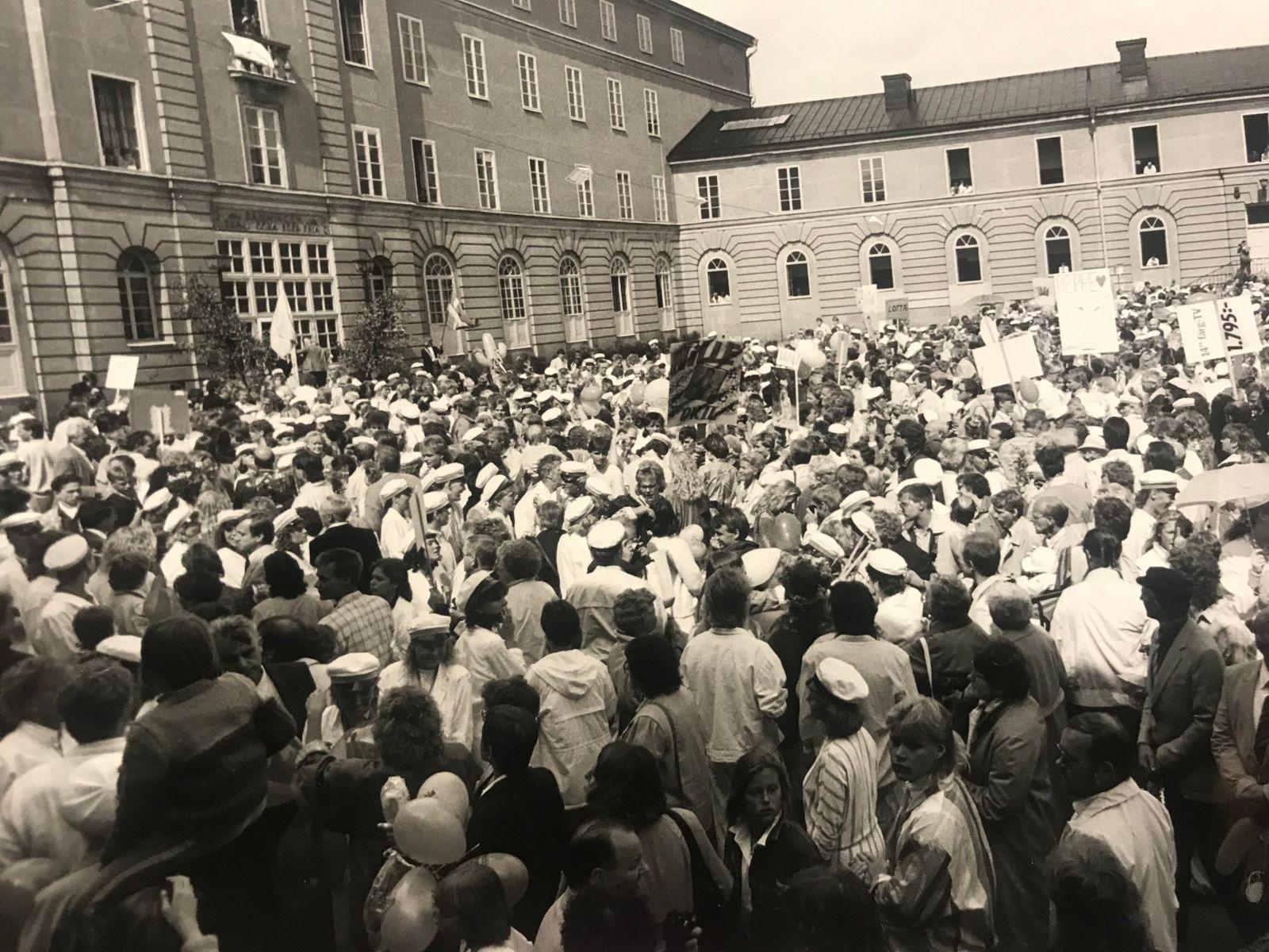 Studentyra på Stagneliusskolan 1986.