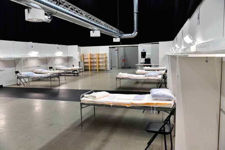 Fältsjukhus i Stockholm öppnar på måndag