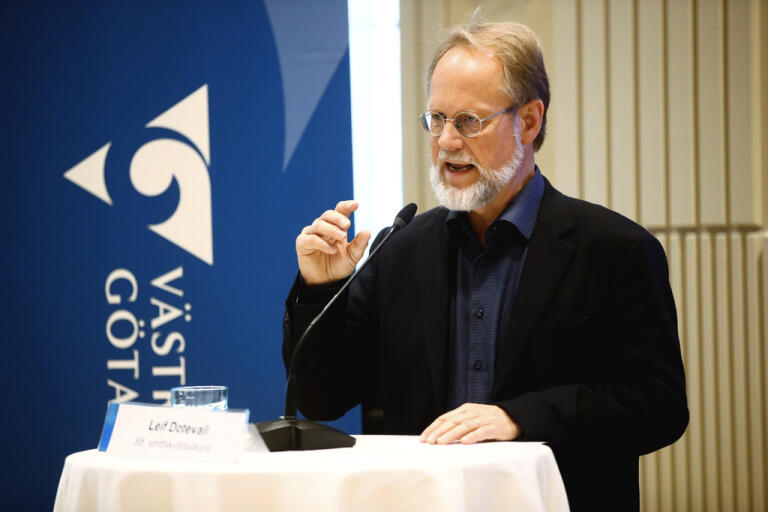 """Allting talar ändå för att det är en långsam minskning"""", säger Leif Dotevall, ställföreträdande smittskyddsläkare i Västra Götalandsregionen."""