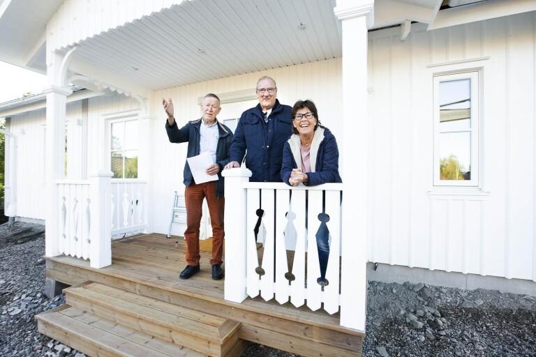 """Första nybyggda huset på 30 år till salu – Mia och Svante """"slog till"""""""