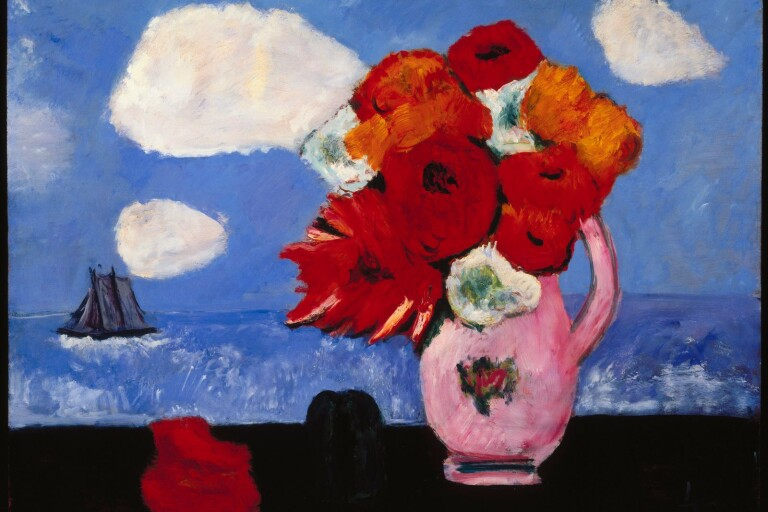 "Marsden Hartley: ""Summer Clouds and Flowers"", (1942)."