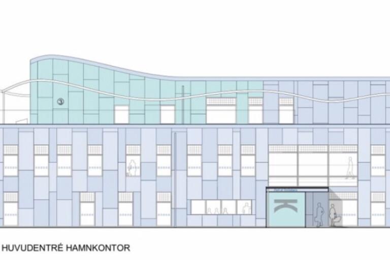 Nytt bygglov för flyttat hamnkontor
