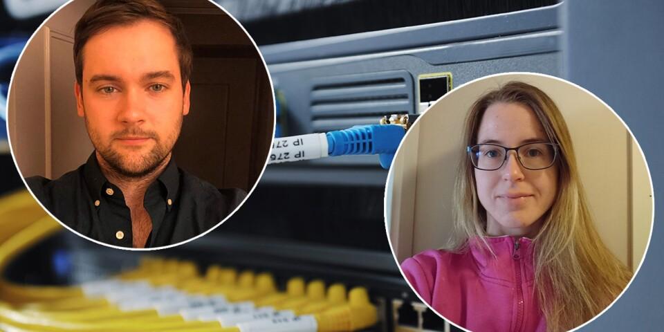 Andreas Johansson och Madelene Amberman var två av förra sommarens studenter på Tieto Evry, som fick jobba med verkliga projekt åt företagets kunder. I sommar kommer 8-10 studenter att arbeta med projektet som nu söker företag som vill passa på att få hjälp med sin it-satsning.