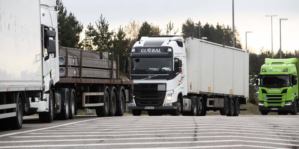 Nya regler för lastbilstrafiken i EU har förhandlats fram efter flera års diskussioner. Arkivbild.